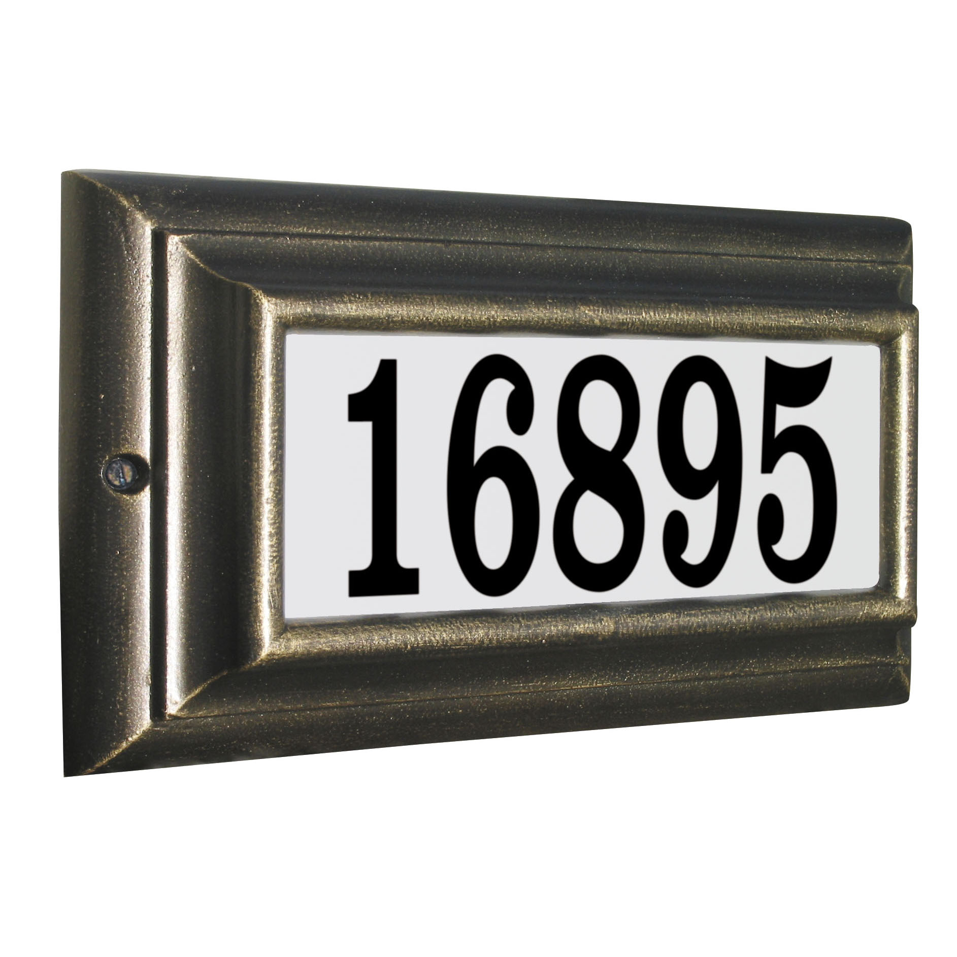 Edgewood Standard Lighted Address Plaque in Oil Rub Bronze Frame Color with LED Lights