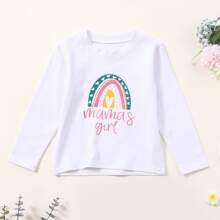 Toddler Girl Cartoon & Letter Graphic Tee