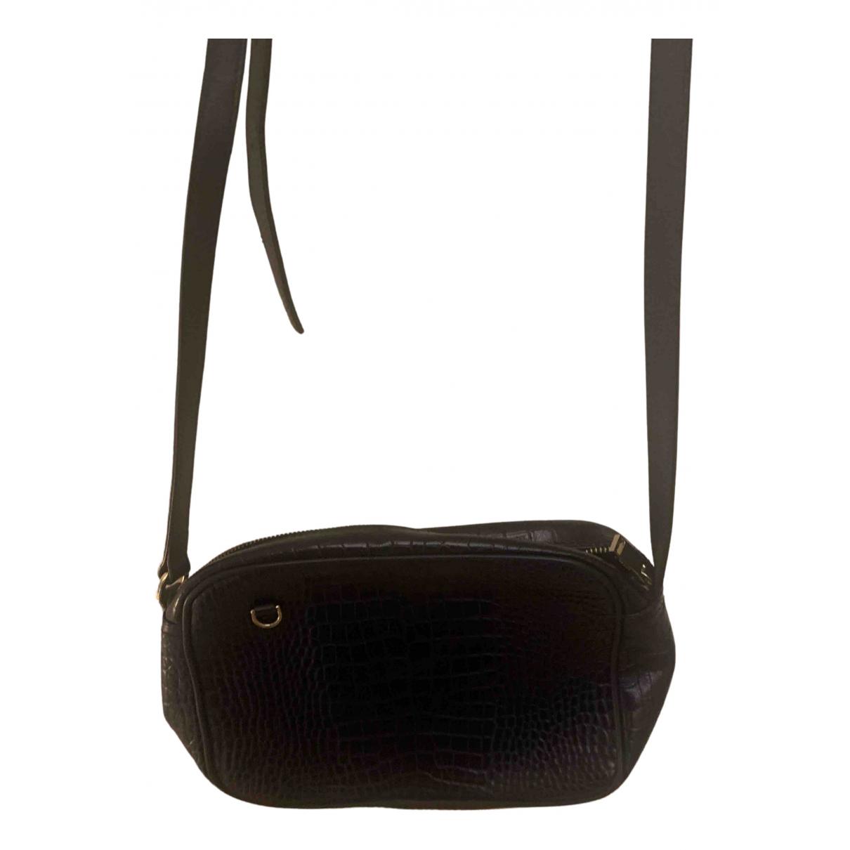 Uterque \N Handtasche in  Marine Lackleder