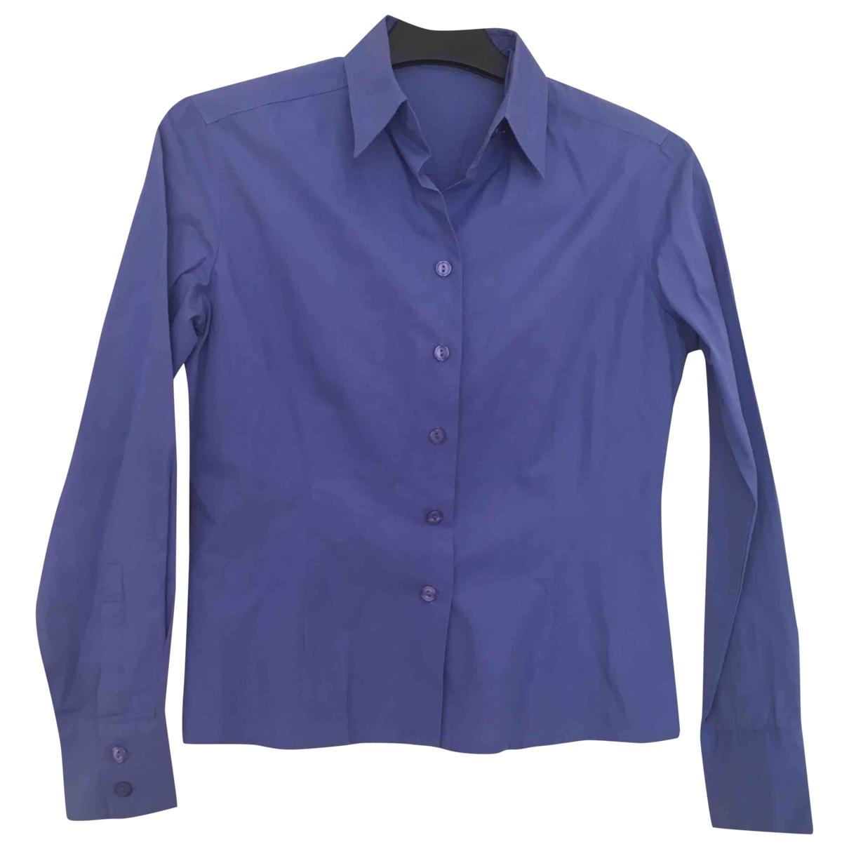 Adolfo Dominguez \N Blue Cotton  top for Women 40 FR