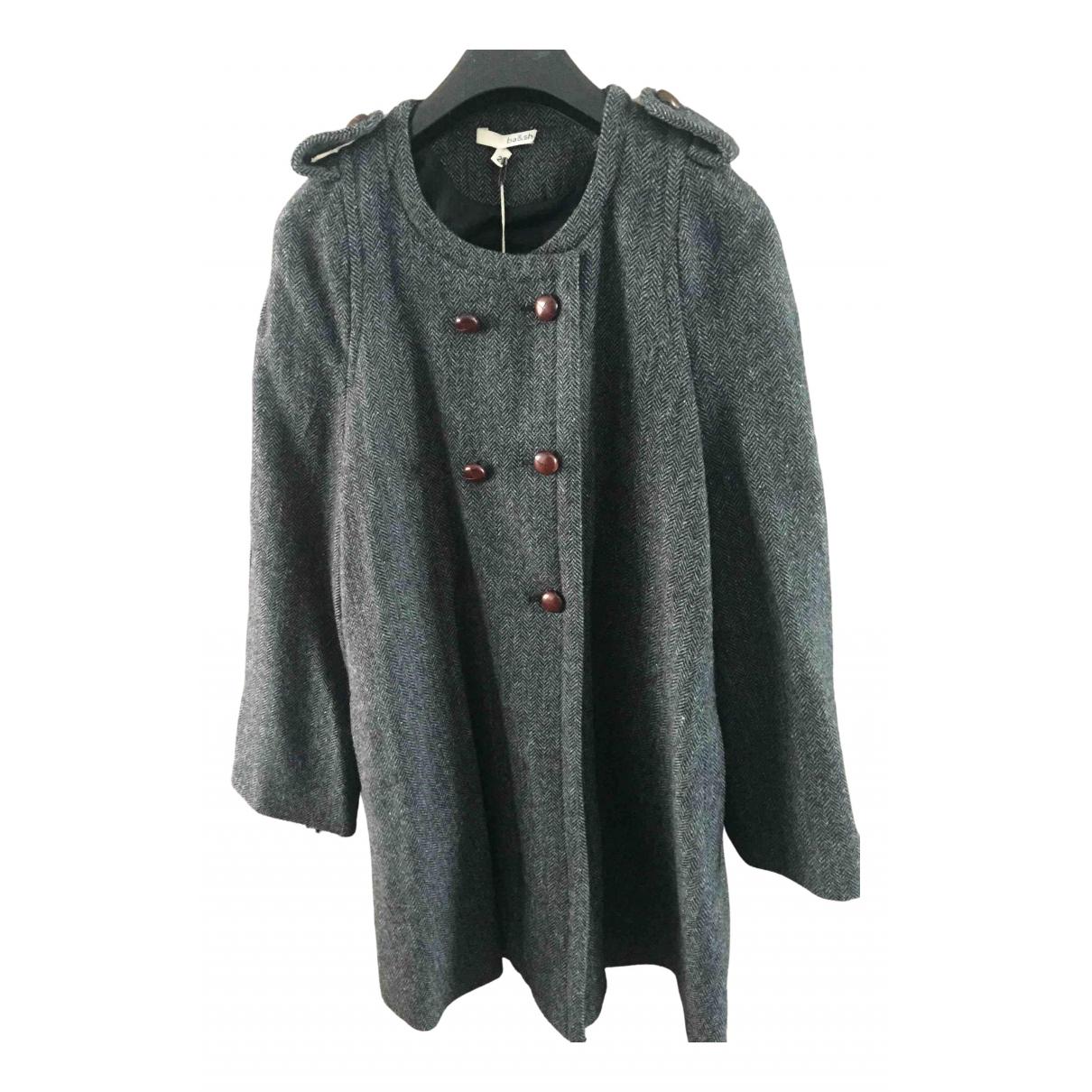 Ba&sh - Manteau   pour femme en laine - gris
