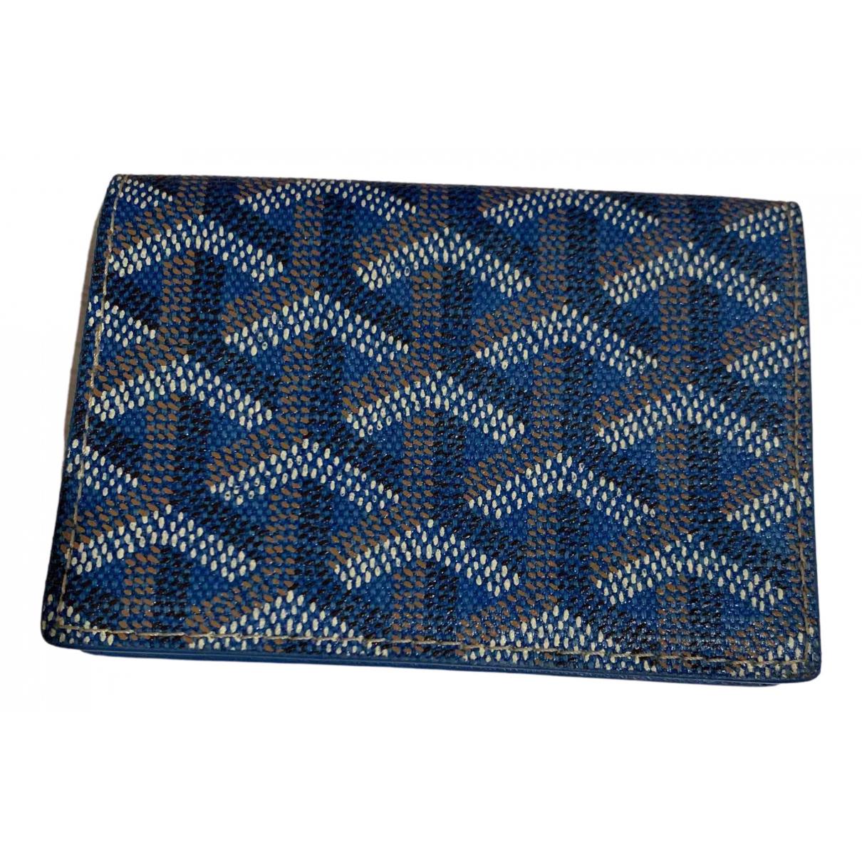 Goyard - Petite maroquinerie Malesherbes pour homme en cuir - bleu