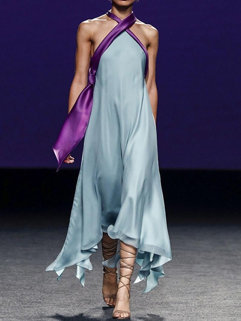 Ericdress Asymmetrical Backless Party Mid-Calf Sleeveless Dress