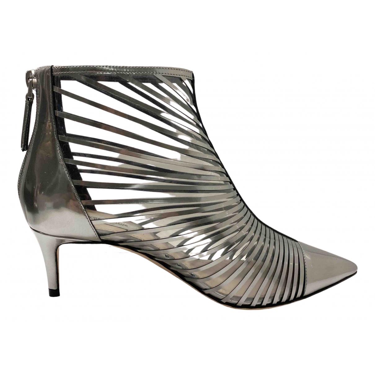 Giorgio Armani \N Stiefeletten in  Silber Lackleder