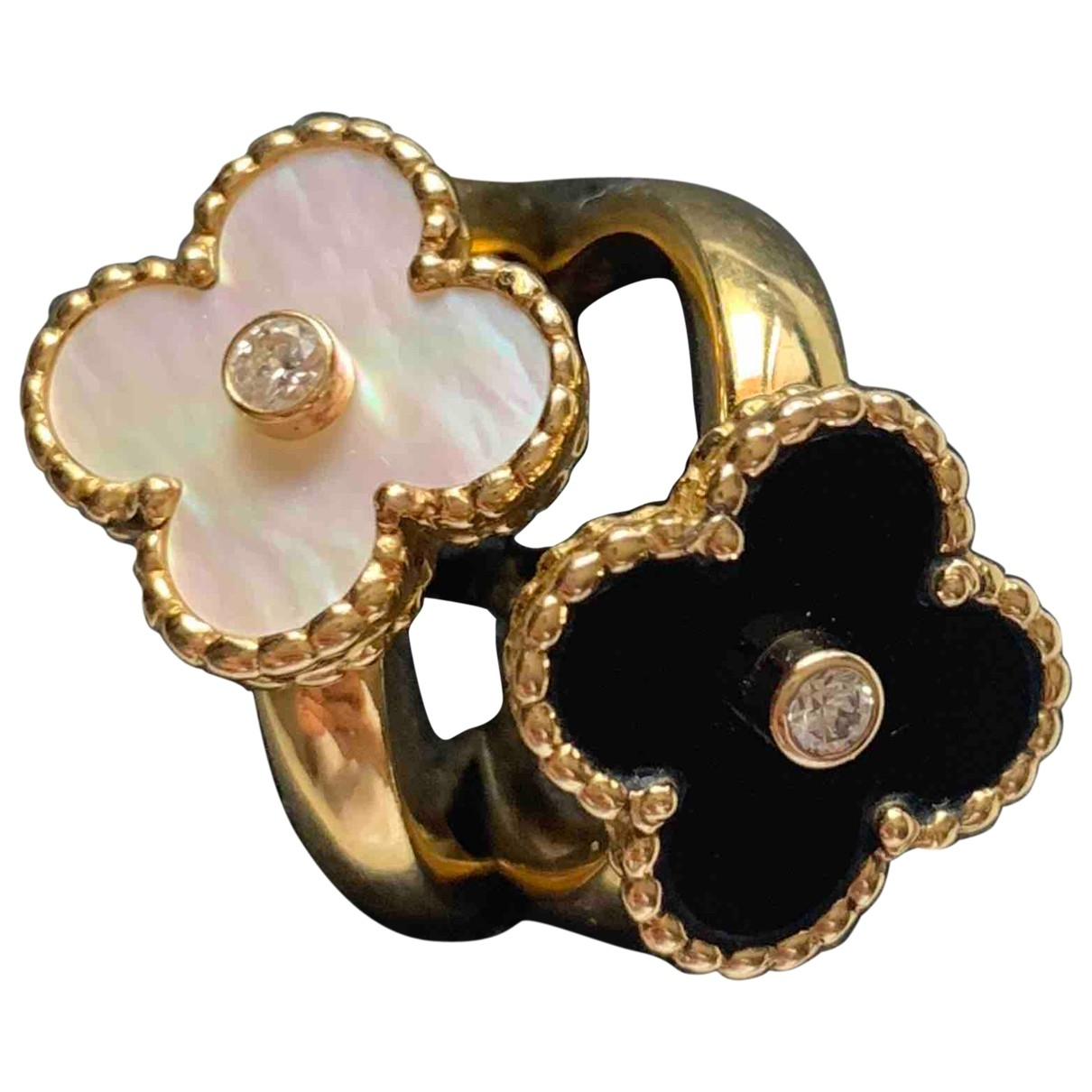 Van Cleef & Arpels Vintage Alhambra Yellow gold ring for Women 51 MM