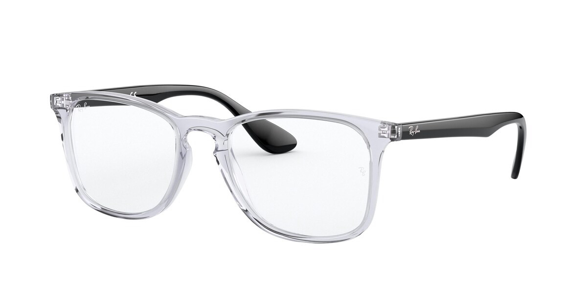 Ray-Ban RX7074 5943 Men's Glasses Clear Size 50 - HSA/FSA Insurance - Blue Light Block Available
