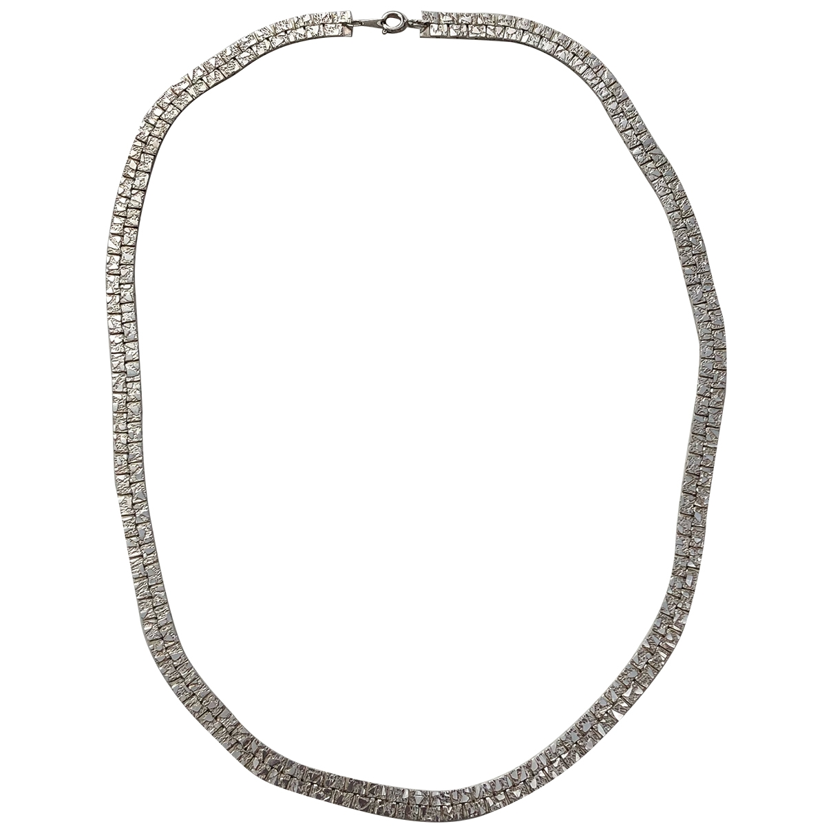 Non Signe / Unsigned  Maille Americaine Kette in  Silber Silber