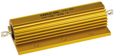 Arcol HS150 Series Aluminium Housed Axial Wire Wound Panel Mount Resistor, 47Ω ±5% 150W