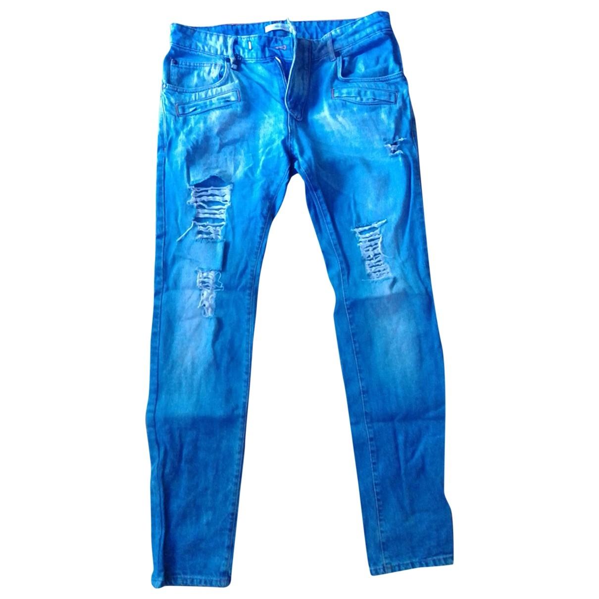 Pierre Balmain \N Blue Cotton Jeans for Men 31 US