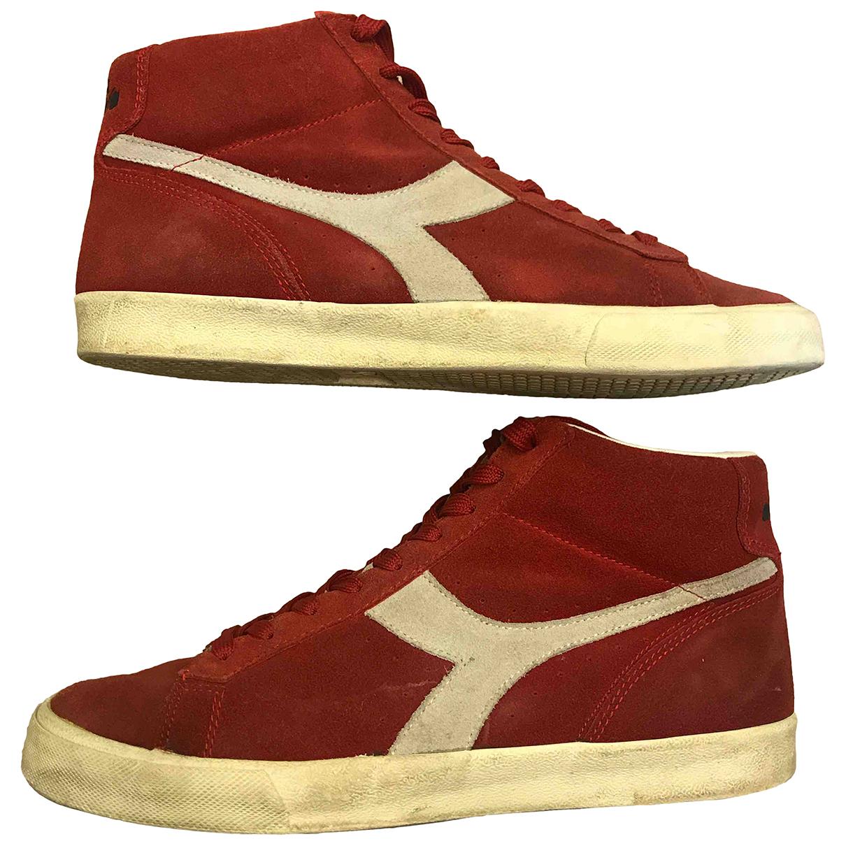 Diadora \N Sneakers in  Rot Leder
