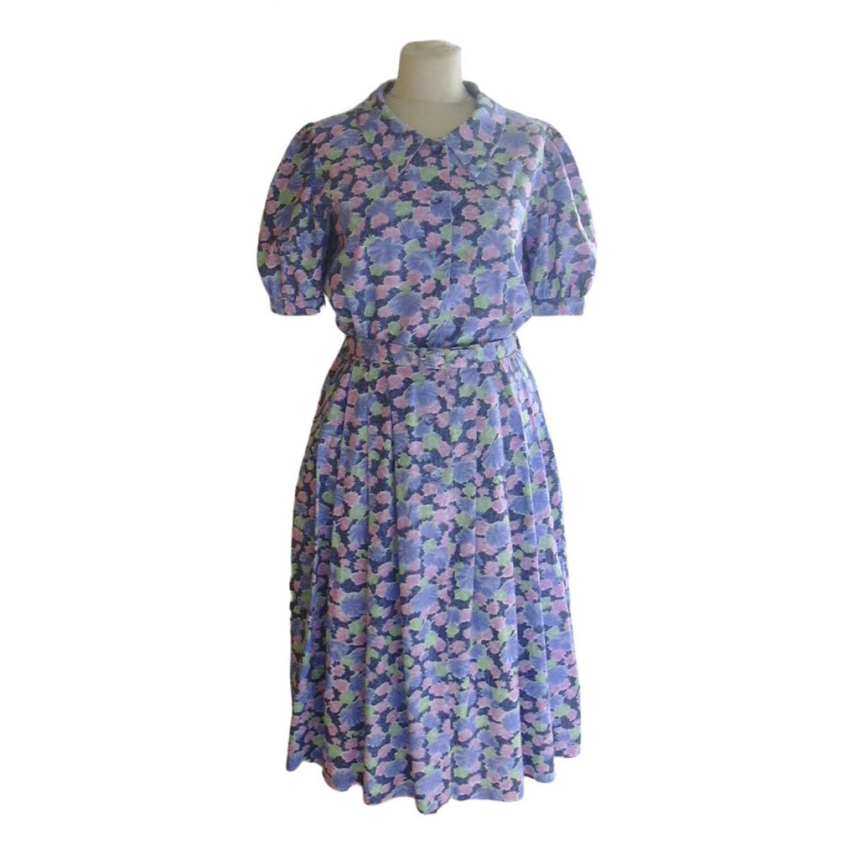 Non Signé / Unsigned \N Blue Cotton dress for Women S International