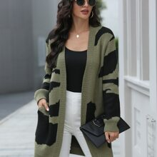 Pocket Front Graphic Pattern Cardigan