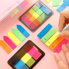 1pack Fluorescent Color Random Sticky Note