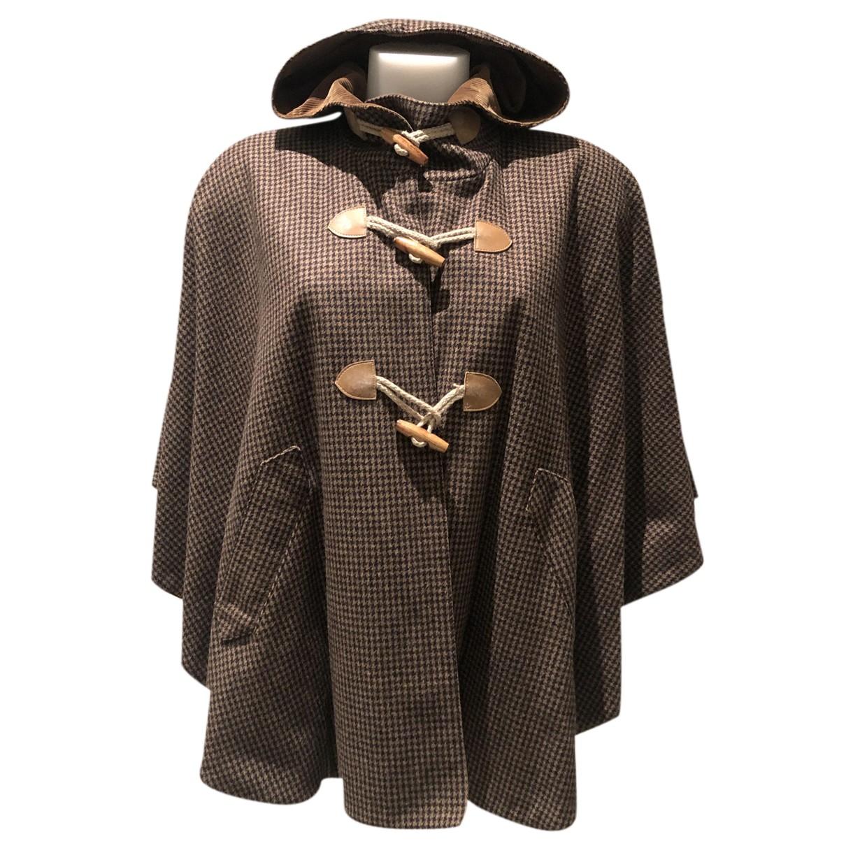 Sessun - Manteau   pour femme en laine - multicolore