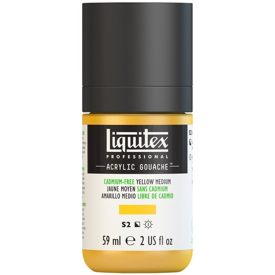 Liquitex® Professional Acrylic Gouache Paint, 2 oz in Cadmium-Free Yellow Medium   Michaels®