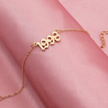 Simple Birth Year Anklet