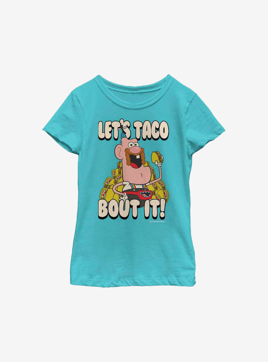 Uncle Grandpa Taco 'Bout It Youth Girls T-Shirt