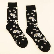 Men Flower Pattern Socks