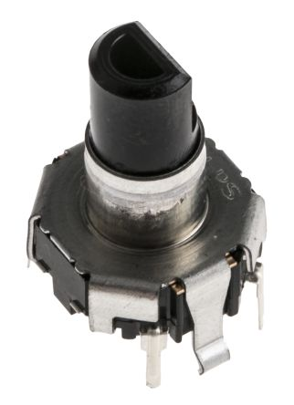 Alps Alpine 15 Pulse Incremental Mechanical Rotary Encoder with a 5.975 mm Flat Shaft (Not Indexed), Through Hole