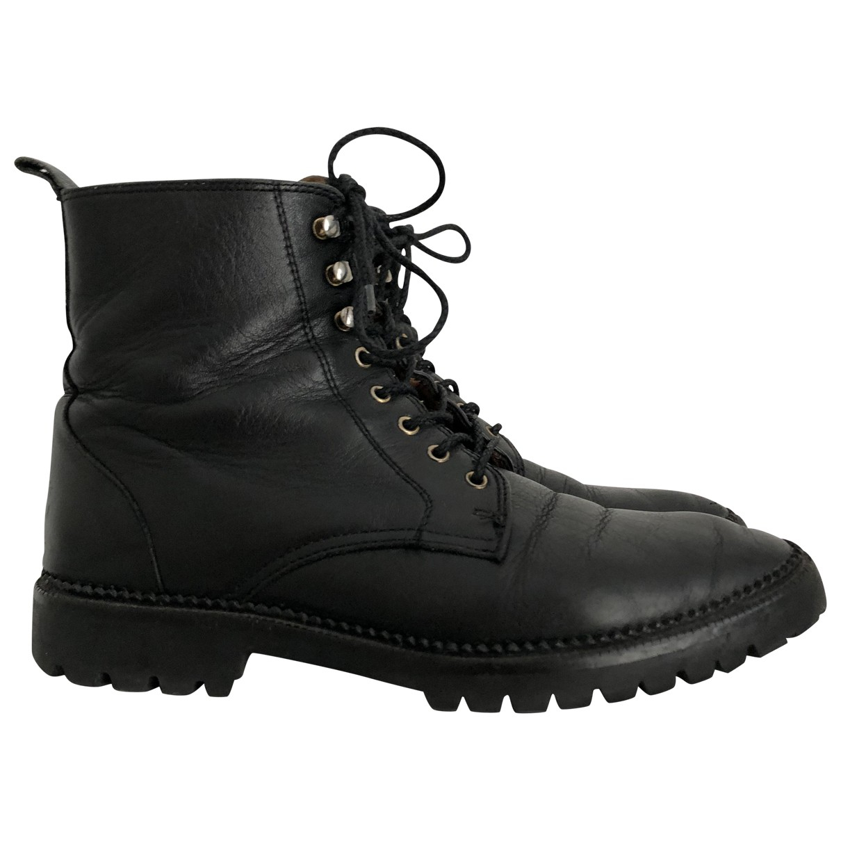 & Stories \N Black Leather Ankle boots for Women 36 EU