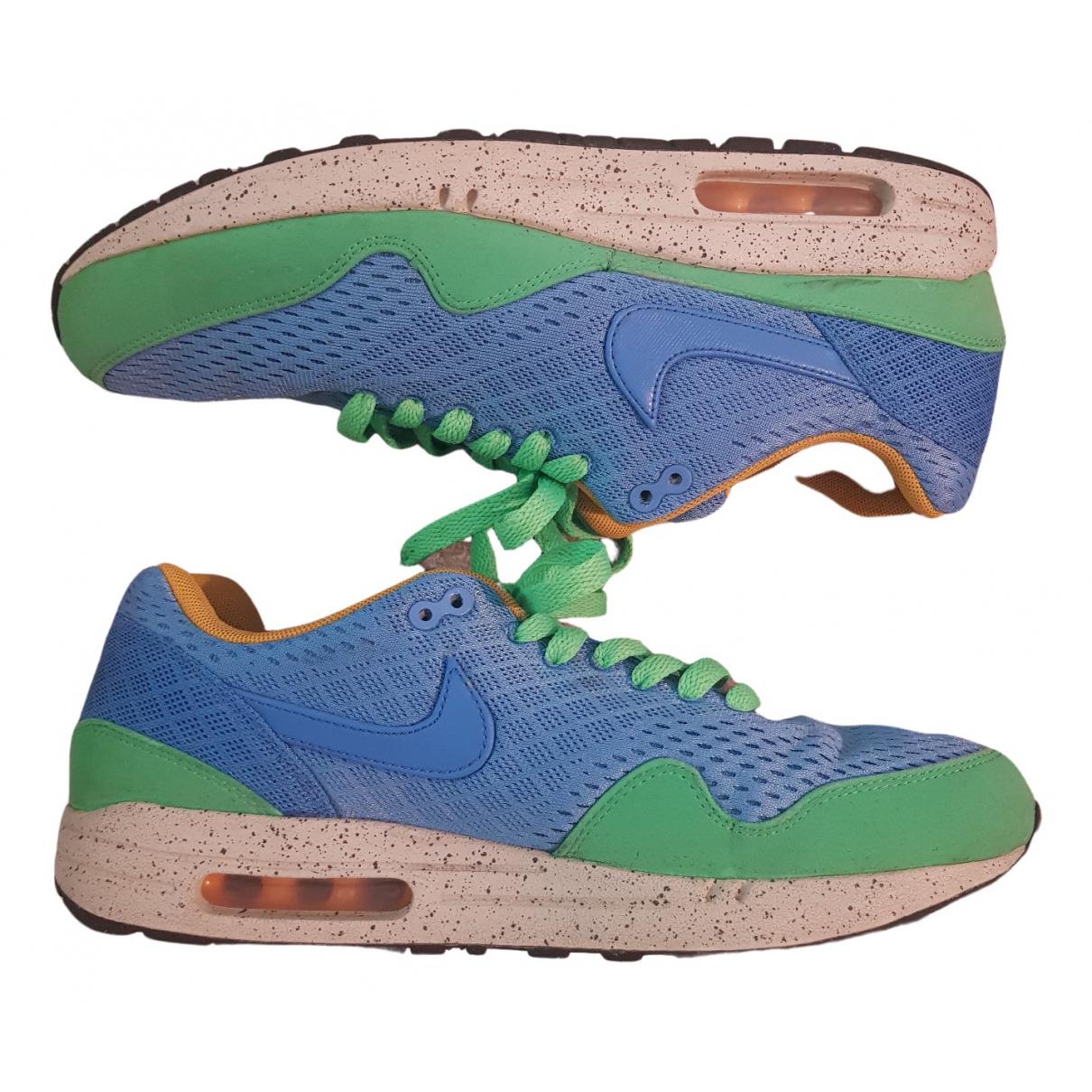Nike - Baskets Air Max 1 pour homme en toile - bleu