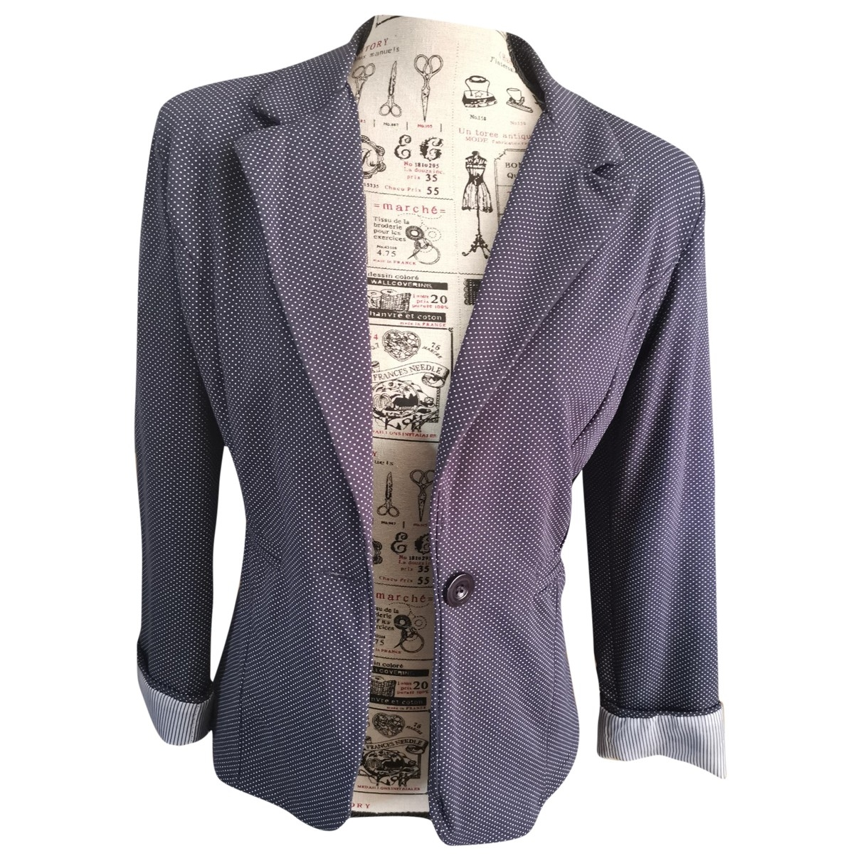 Non Signé / Unsigned \N Blue Cotton jacket for Women 38 FR