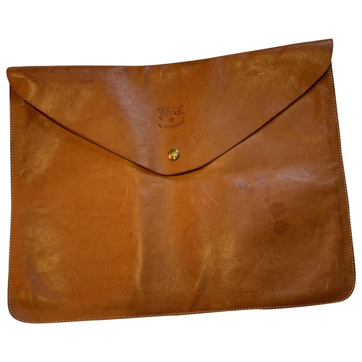 Il Bisonte \N Camel Leather Small bag, wallet & cases for Men \N