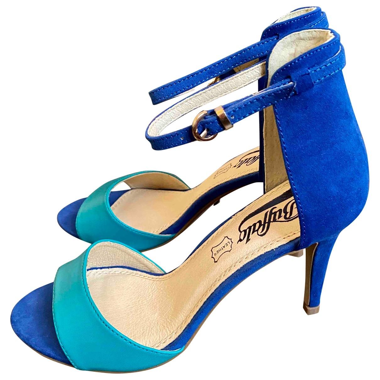 Buffalo \N Sandalen in  Blau Leder