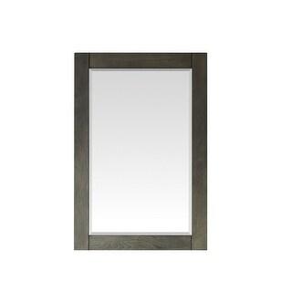 Grayson 24 Inch Rectangular Bathroom/Vanity Framed Wall Mirror In Black - 24 inches (Black/Grey - 24 inches)