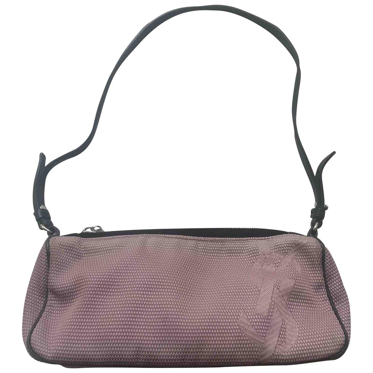 Bolsos clutch en Algodon Rosa Yves Saint Laurent