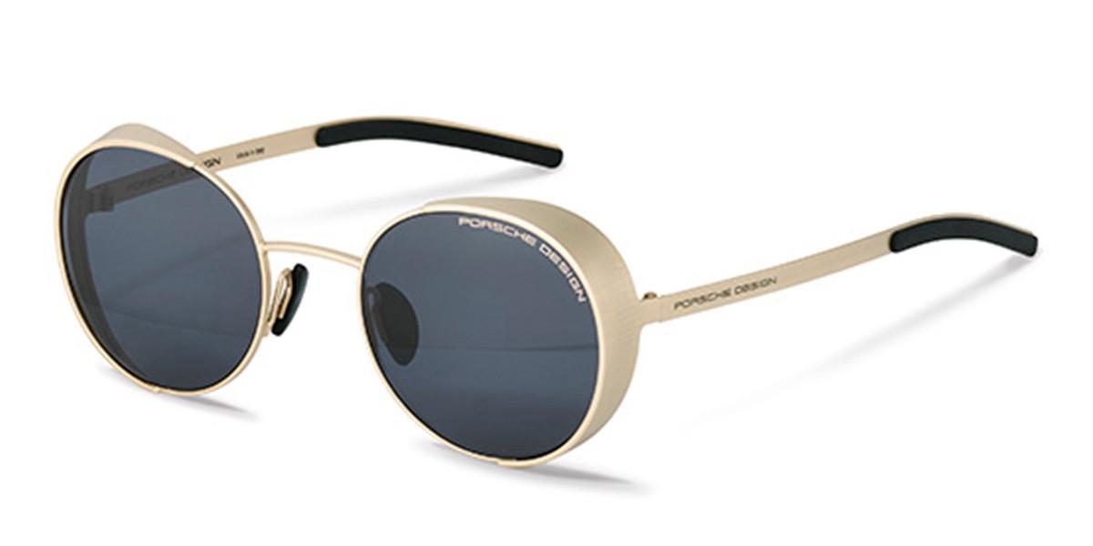 Porsche Design P8674 C Men's Sunglasses Gold Size 50