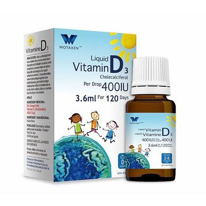 WOTAXEN Liquide Vitamine D3 400IU 3.6ml
