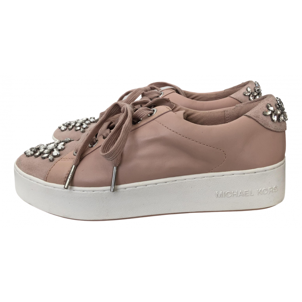 Michael Kors N Pink Leather Trainers for Women 4 UK