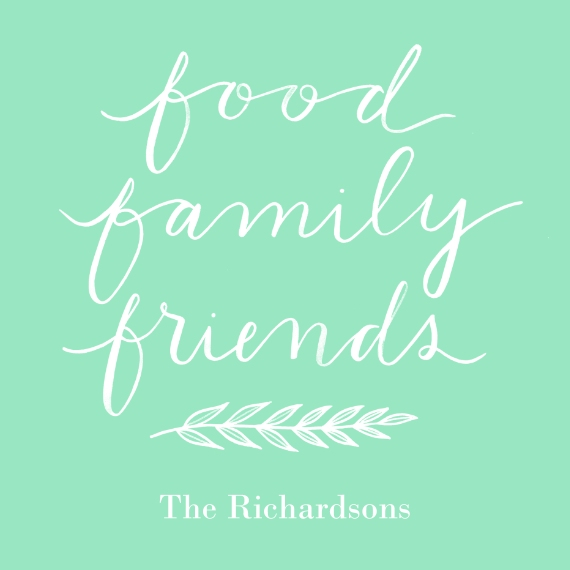 Non Photo Deluxe Tote Bag, Gift -Food Family Friends