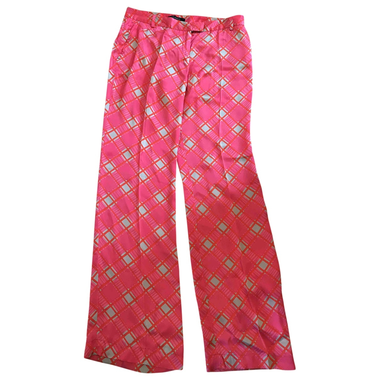 Tara Jarmon \N Multicolour Silk Trousers for Women 40 FR