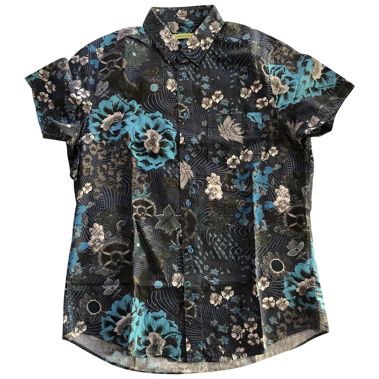 Versace Jeans \N Hemden in  Blau Baumwolle
