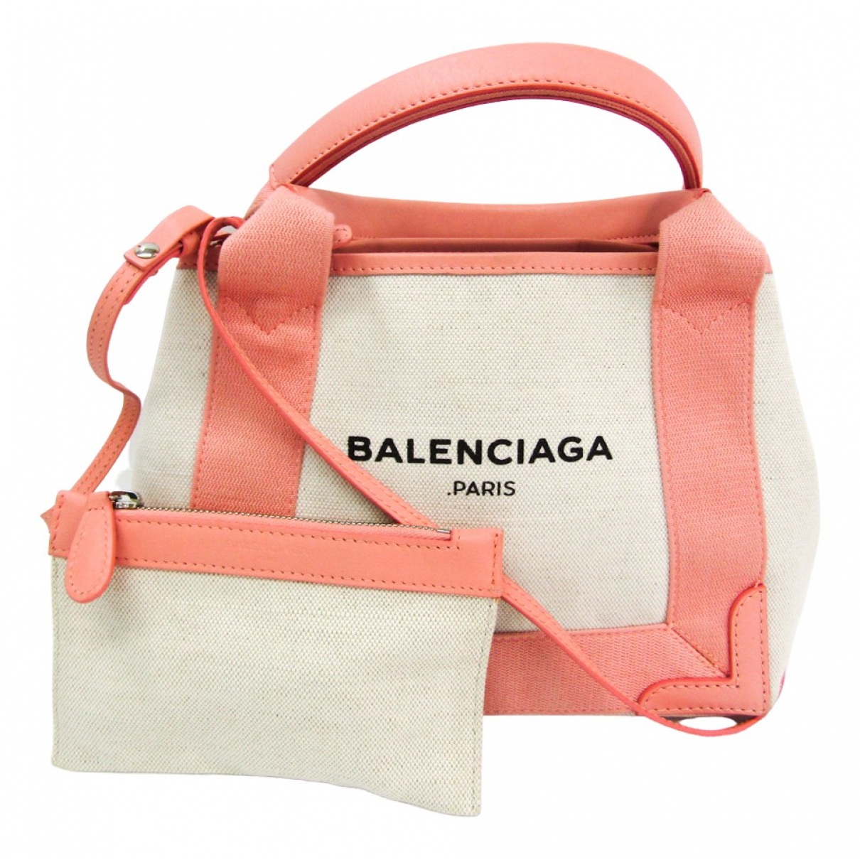 Balenciaga Navy cabas Ecru Cloth handbag for Women \N