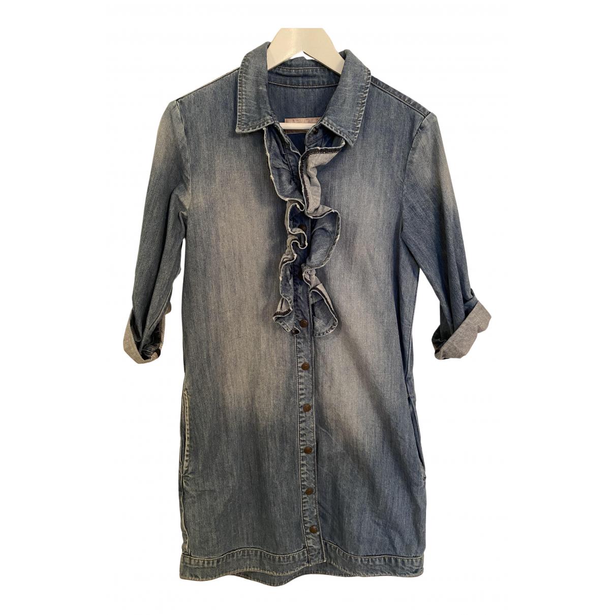 Pedro Del Hierro \N Kleid in  Blau Denim - Jeans