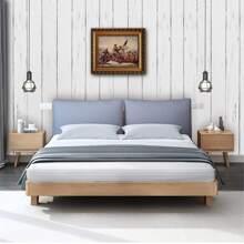 Pegatina de pared con patron de grano de madera