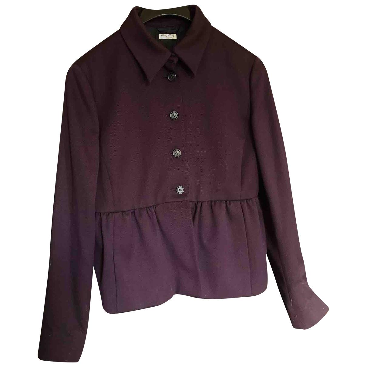 Miu Miu - Veste   pour femme en laine - violet