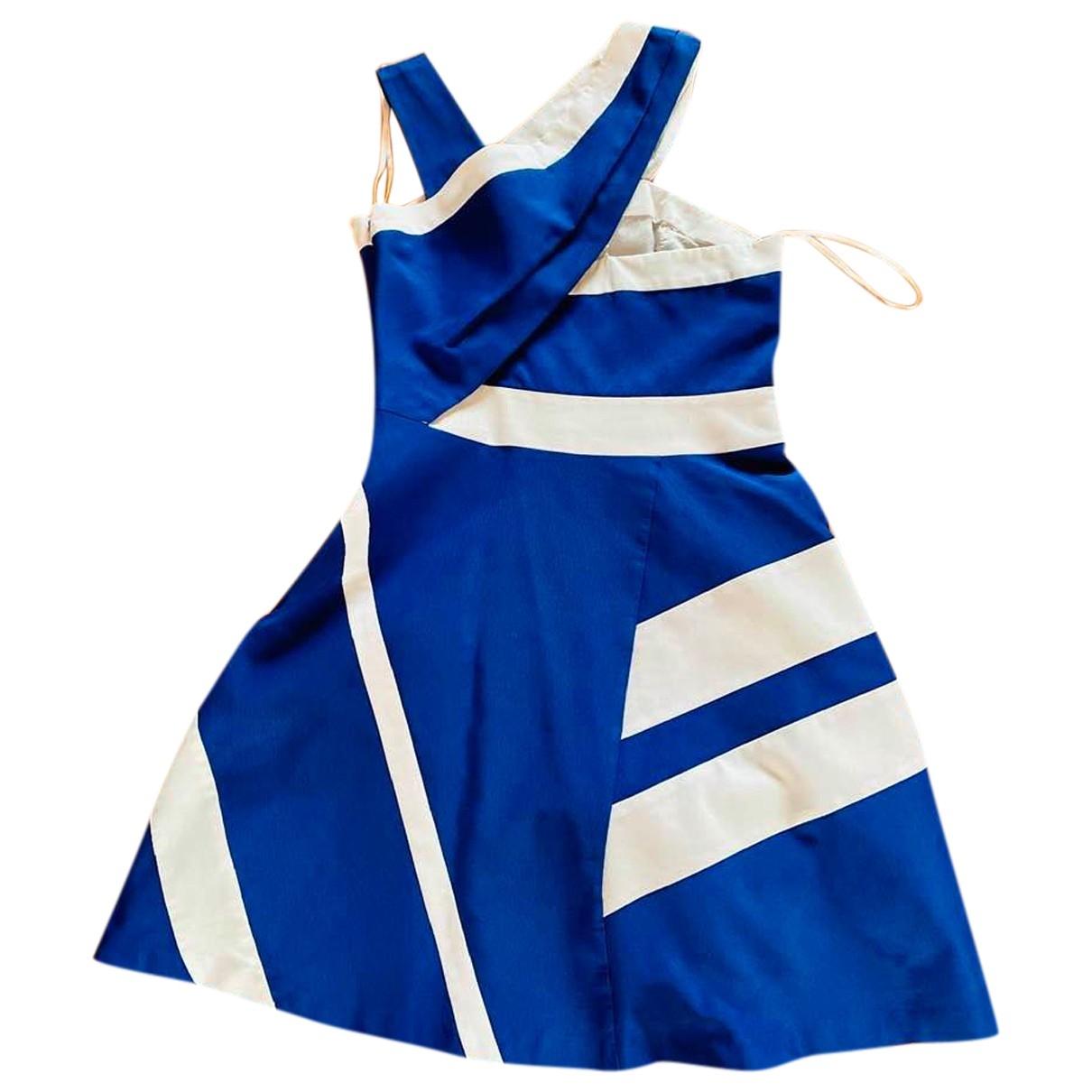 Reiss \N Kleid in  Blau Baumwolle