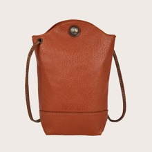 Litchi Embossed Crossbody Bag