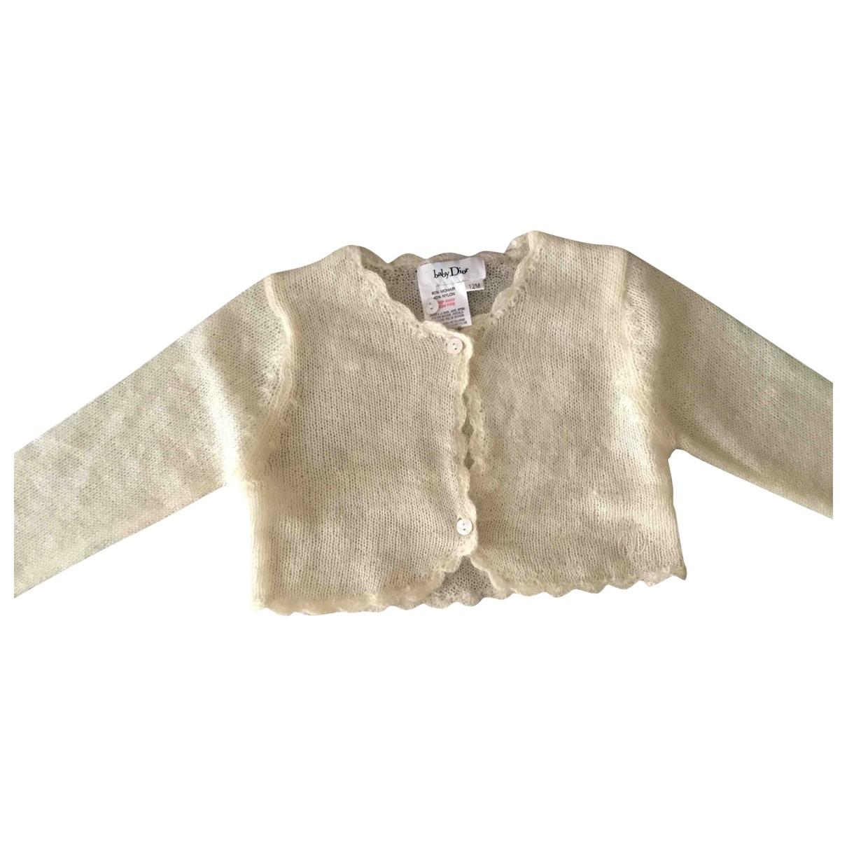 Baby Dior \N Pullover, StrickJacke in  Ecru Wolle