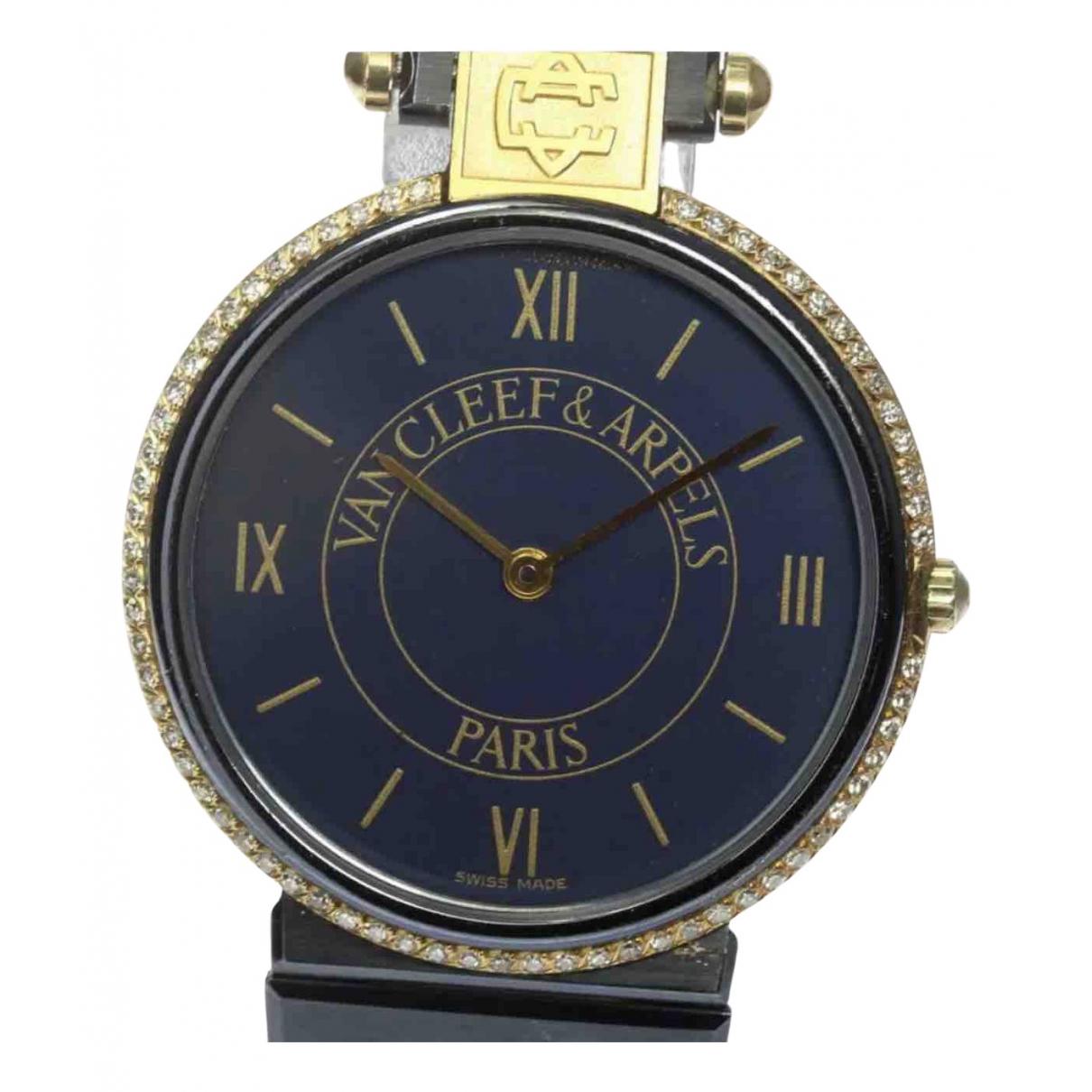 Van Cleef & Arpels - Montre   pour homme en or et acier - bleu