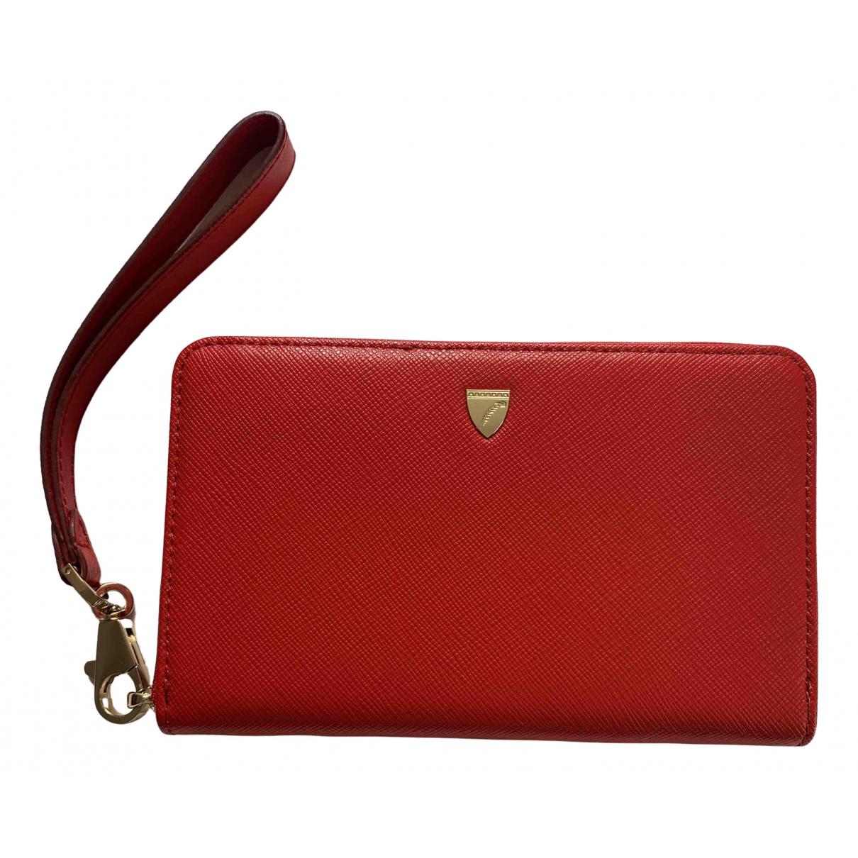 Aspinal Of London - Portefeuille   pour femme en cuir - rouge