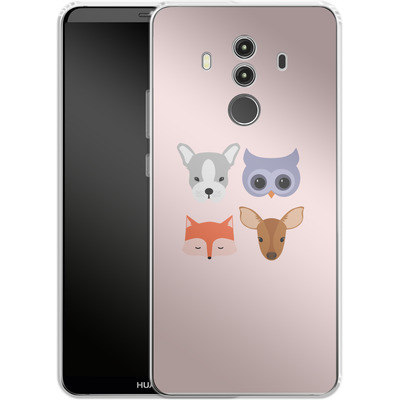 Huawei Mate 10 Pro Silikon Handyhuelle - Animal Friends on Pink von caseable Designs