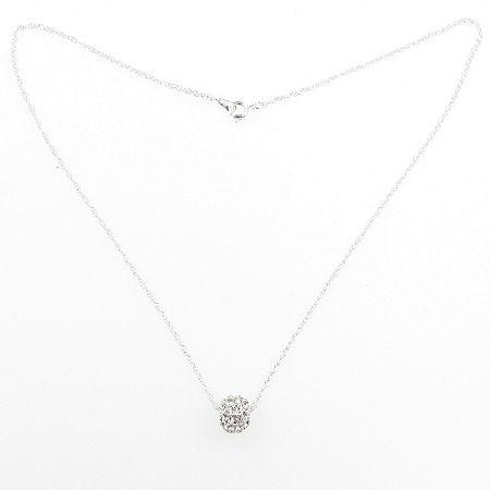 Vieste Rosa Round Collar Necklace, One Size , White