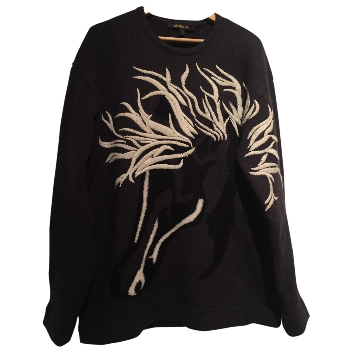 Roberto Cavalli \N Pullover.Westen.Sweatshirts  in  Grau Wolle