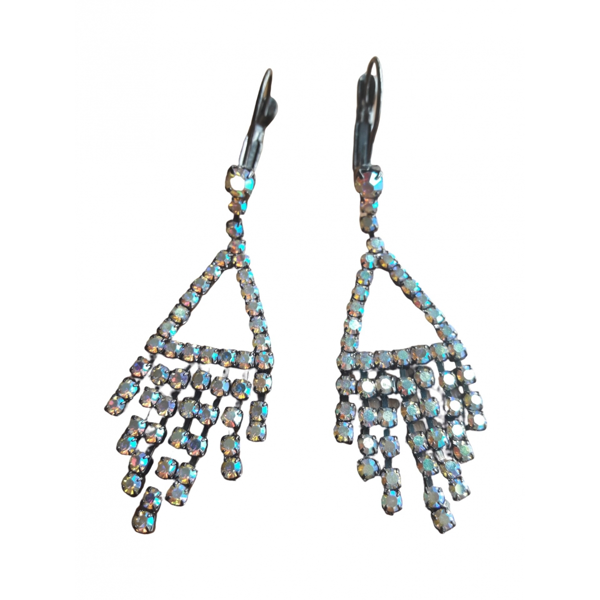 Non Signé / Unsigned \N Metallic Crystal Earrings for Women \N
