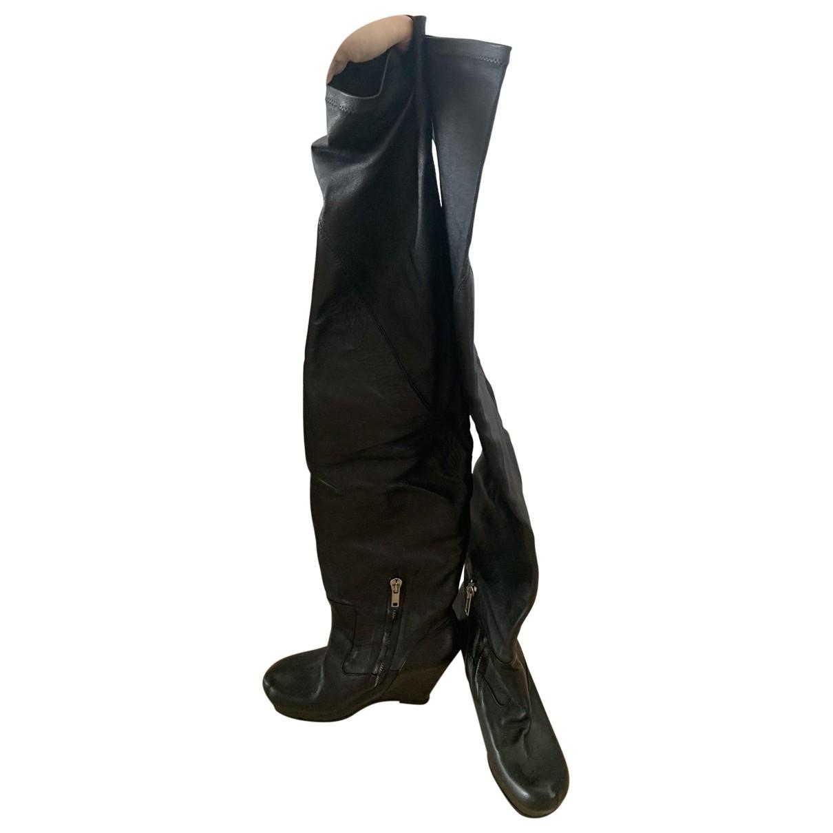 Rick Owens \N Stiefel in  Schwarz Leder